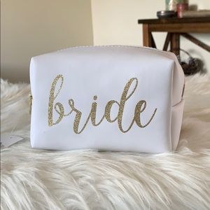 New Bride Gift Makeup Bag Glitter Wedding Day Gold